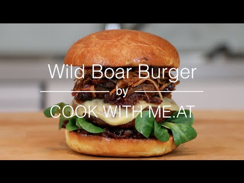 Wild Boar Burger - COOK WITH ME.AT