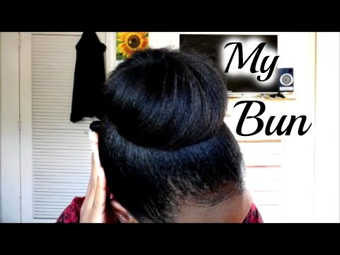 Easy Bun Tutorial Without Weave Or Donut/Sock | Relaxed Hair