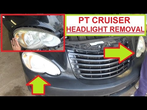 Chrysler Pt Cruiser Headlight Removal and Replacement