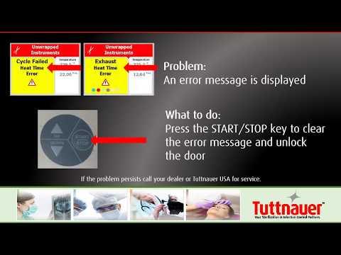 Door Will Not Open - Tuttnauer EZPlus Autoclave