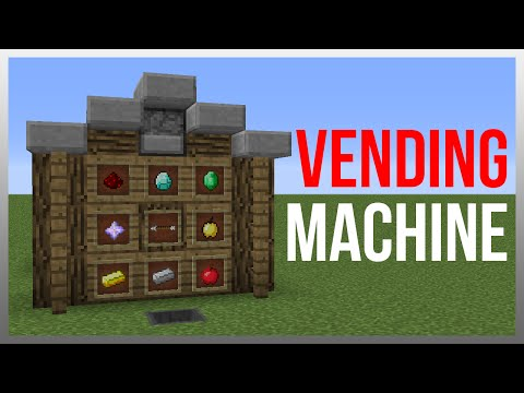 Minecraft 1.12: Redstone Tutorial - Vending Machine V2 (60fps)