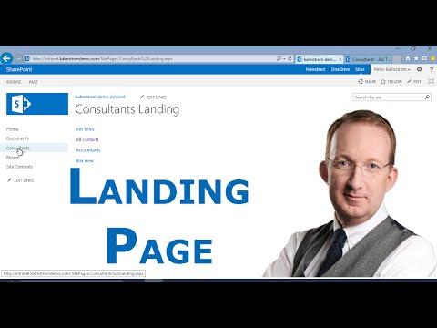 Create Custom SharePoint Landing Page