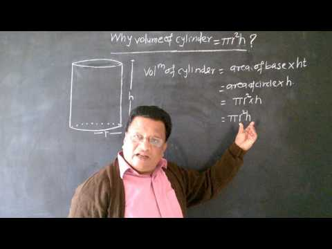 How to find Volume of Cylinder