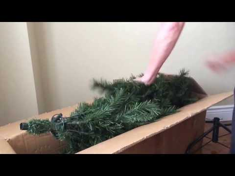 How to pack away your Christmas tree in the box