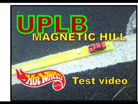 UPLB - Magnetic Hill test video with Hotwheels, Track and a Marble (Raw video)