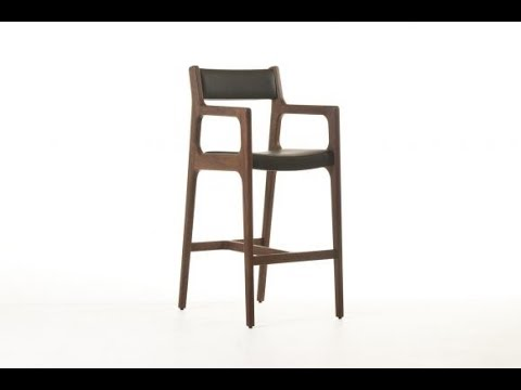 Wood Bar Stools With Back For Durability