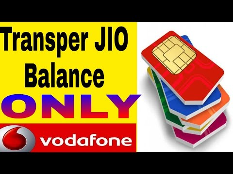 Jio balance transfer only for VODAFONE.With proof 100%work.