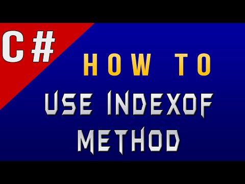 How to Use IndexOf Method in Csharp/C#