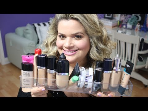 Foundation Clean Out + My Top 10 Current Favorite Foundations (High End + Drugstore)