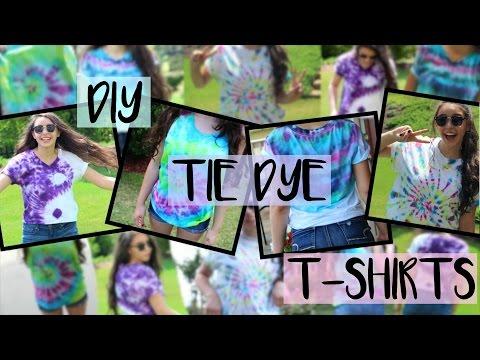 DIY Tie-Dye Shirts//4 Easy & Fun Designs for Summer!
