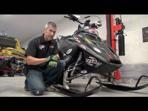 Make your snowmobile lighter!  This is how to do it.  PowerModz!