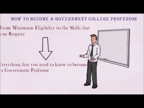How to become a Government College Professor