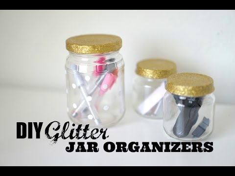 DIY Organization | Glitter Jar Lids
