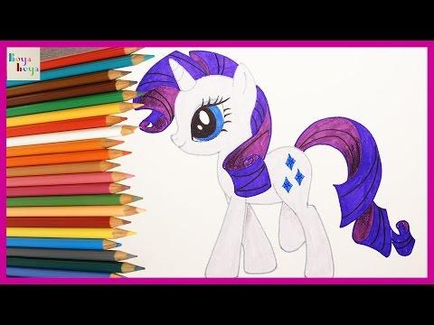 My Little Pony Rarity Nasıl çizilir My Little Pony Türkçe çizim