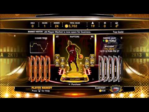 NBA2k13 | Getting Potential VC through MyTeam Stock Market