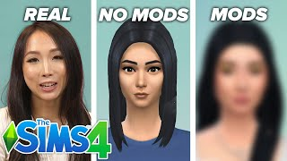 Asian Women Create Themselves In The Sims: No Mods vs. Mods (ft. Luumia)