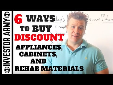 6 Ways To Buy Discount Appliances, Cabinets, and Rehab Materials