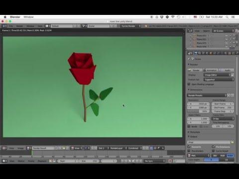Blender Beginniner Tutorial: Low Poly Rose