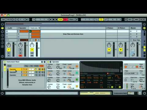 How to make Skrillex style sick dubstep with only Ableton Live's instruments and effects!