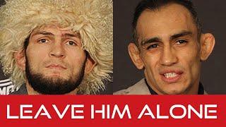 Khabib Nurmagomedov shuts down reporter on Tony Ferguson's Mental Health (UFC 249)