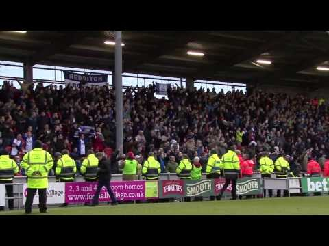Birmingham City fans sing 'Keep Right On' at Blackpool