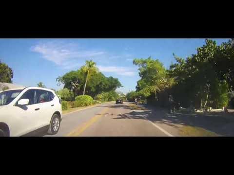 Driving around Sanibel, Florida