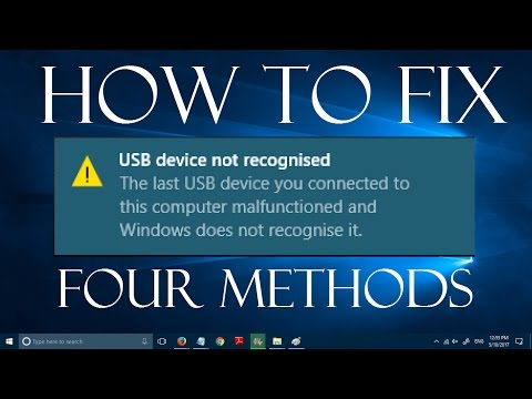 How to fix USB Device not Recognized/Not Detected in Windows 10 (4 Methods)