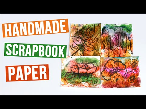How to Make Scrapbook Paper Soap Watercolor Printing