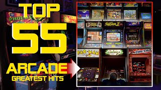 TOP 55 ARCADE GAMES - GREATEST HITS All Time 👻