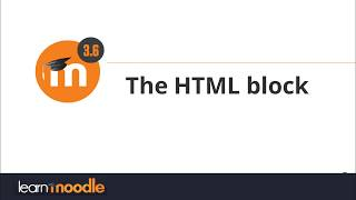 36 HTML block
