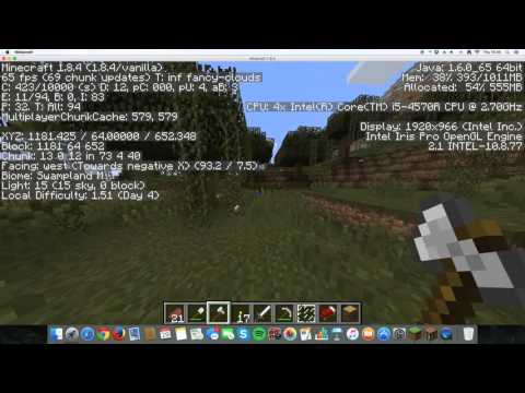 Imac late 2013 minecraft fps test