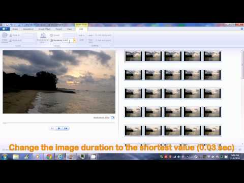 Make Time Lapse Video from still images using microsoft movie maker in 1 minute