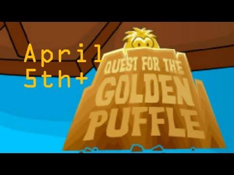 Club Penguin ReWritten - Quest For The Golden Puffle April 5th & New Newspaper Look-Through
