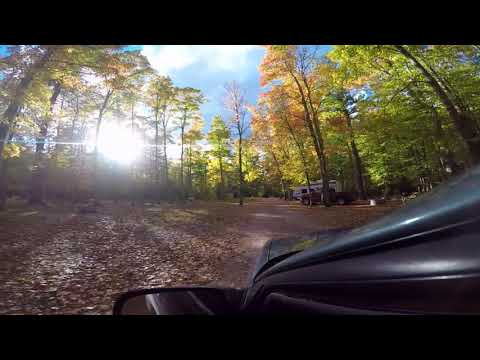 A Fall Drive through Onaway State Park in Onaway, MI.