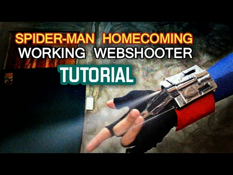 Make a Spiderman Homecoming Webshooter that shoots using a lighter | Easy Tutorial!