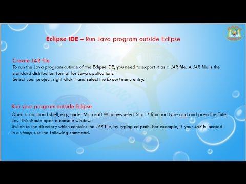 Lesson - 09 : Eclipse IDE - Run Java program outside Eclipse