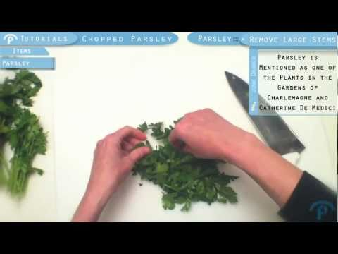 How to Chop Parsley in First Person