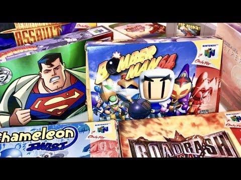 COMPLETE N64 COLLECTION! Super Man 64 Super Rare Games!! Recent Game Pick Ups #10