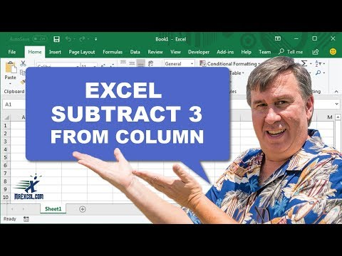 Learn Excel - Subtract 3 from a Column - Podcast 2099