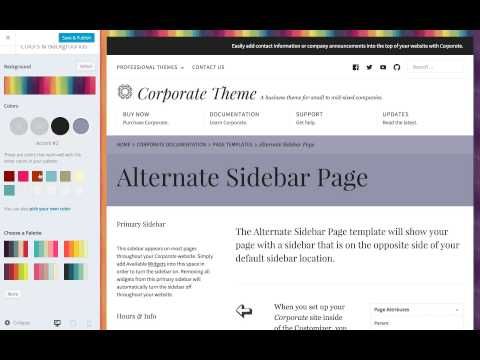 Corporate WordPress Theme: Setting Custom Colors on WordPress.com
