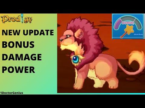YAY!! Got the power : Bonus damage update : Prodigy math game  with 1DoctorGenius