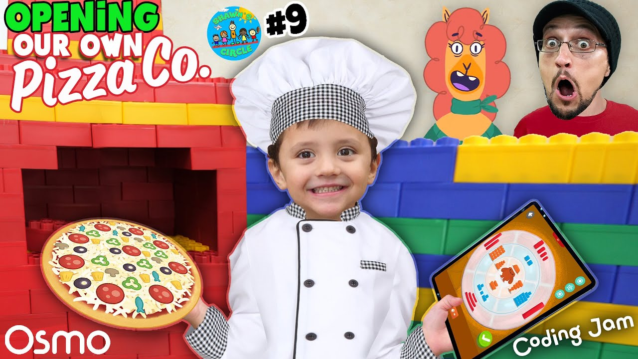 Shawn's Circle PIZZA RESTAURANT by OSMO + Coding Jam #8 | DOH MUCH FUN