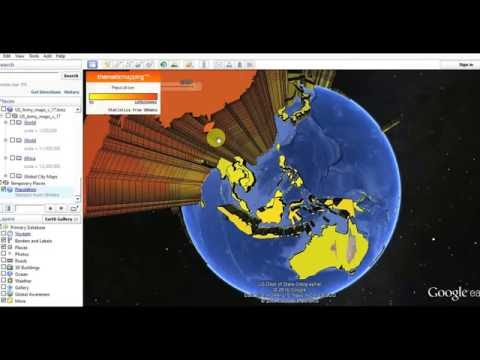 population Explosion in Google Earth (by .kml file- link included below)