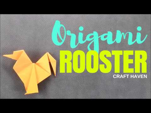 Easy Origami Chicken/Rooster/Hen - Origami Animals - Step by Step Instructions for Beginners