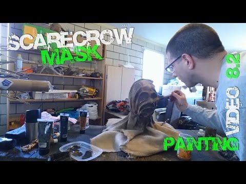8.2 Paint Your Scarecrow How to Paint Custom Scarecrow Mask from Batman