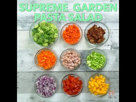 Supreme Garden Pasta Salad - One salad to reign supreme!