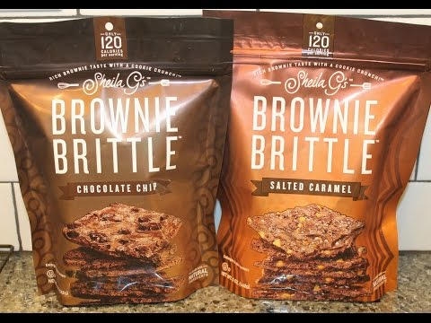Sheila G's Brownie Brittle: Chocolate Chip & Salted Caramel Review