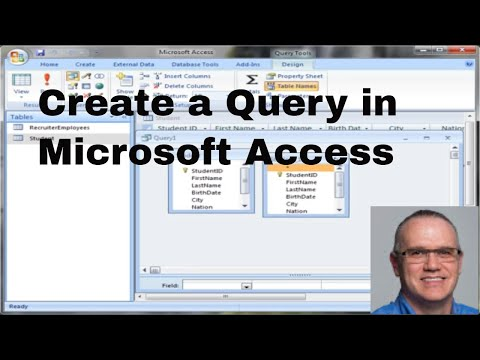 MS Access 2007 Query tutorial