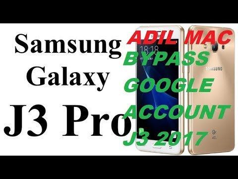 Bypass google account Samsung Galaxy J3 PRO Remove FRP latest security update 2018