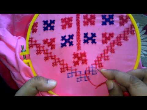 43.sindhi embroidery,sindhi tanka,kutchi work,gujrati stitch..kurti yoke pettern design